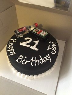 Simple but nice cake for guy's 21st birthday