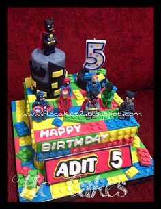 Lego hero birthday cake