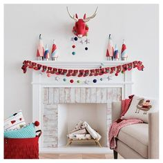 If you wrapped all the excitement of the holidys into one collection, this would be it. Folklore's poppy color plette and silver accents are perfect for living rooms or guest rooms designed with kids in mind. You'll find bright felt, pom-poms and tassels on pillows, advent calendrs and more.
