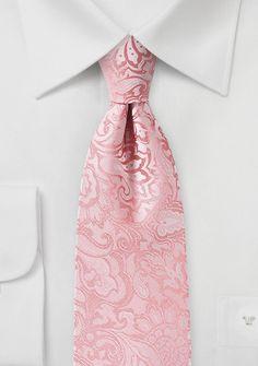 Markante Krawatte im Paisley-Look rosa