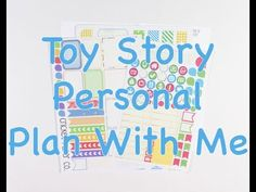 Personal Plan With Me - Toy Story