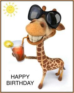Giraffe birthday Birthday sayings Birthday wishes funny, Happy funny happy birthday images - Birthdays Funny Happy Birthday Images, Happy Birthday For Him, Birthday Quotes For Him, Birthday Wishes Funny, Happy Birthday Messages, Happy Birthday Greetings, Birthday Sayings, Humor Birthday, Birthday Ideas