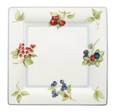 Villeroy & Boch Cottage 10-1/2-Inch Dinner Plate, Square by Villeroy & Boch. $29.50. Made of vitrified porcelain for strength and durability. Dishwasher and microwave safe. Wild flowers form the decoration. Mix and match w/plaid and stencil patterns. 10-1/2-Inch square dinner plate. Square dinner plate to coordinate with Cottage collection
