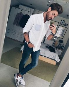 Look taller now with AddHeight! Casual Wear For Men, Stylish Mens Outfits, Casual Outfits, Height Insoles, Androgynous Fashion, Outfit Grid, How To Gain Confidence, Cool Style, My Style