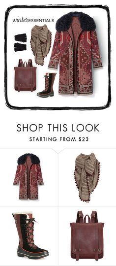 """""""Bundle Up"""" by patricia-dimmick on Polyvore featuring Tory Burch, Vero Moda, SOREL, The Elder Statesman, scarf, wintercoat and winteressentials"""
