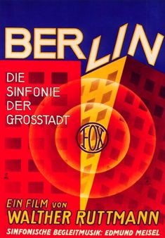 Berlin: Symphony of a Great City (Walter Ruttman, 1927), 'city symphonies' were a staple of '20s cinema; this an avant-garde visual impression of life in Berlin, shot in a documentary style. Find this at 791.43737 BER