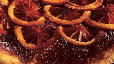 Blood Orange Polenta Upside-Down Cake with Whipped Crème Fraîche Recipe | Bon Appetit