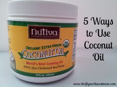 5 Ways to Use Coconut Oil - includes face wash recipes/technique. I actually loved this; tried the recipe for dry skin.