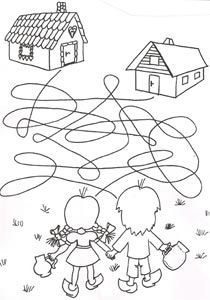 Coloring Pages For Kids, Coloring Sheets, Coloring Books, Kindergarten Goals, Nursing Home Activities, Maze Worksheet, Hansel Y Gretel, Homeschool Worksheets, Picture Puzzles