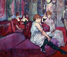 """lonequixote: """"The Salon in the Rue des Moulins ~ Henri de Toulouse-Lautrec """""""