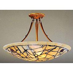 Marble Alabaster Stone Five-Light 60-Watt Ceiling Lamp