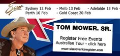Tom Mower is coming to Australia