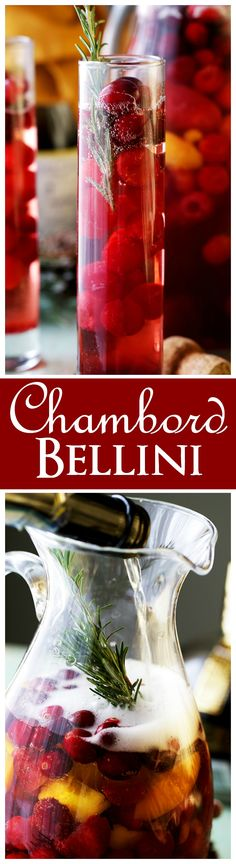 Chambord Bellini - A wonderful combination of Prosecco and Chambord Liqueur create this light, refreshing, delicious and bubbly elegant sipper. It's also just the cocktail that your New Year's Eve Party needs!