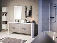 Kaisla - harmaa 1. Double Vanity, House, Bath, Bathroom Vanity, Bath Spa, Bathroom, Faucet, Bathroom Design