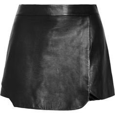 Jonathan Simkhai Leather shorts (€230) ❤ liked on Polyvore featuring shorts, skirts, saias, bottoms, black, black shorts, black stretchy shorts, leather mini shorts, black mini shorts and mini shorts
