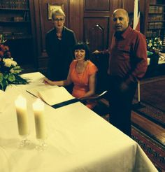 """On Friday 13 December 2013, TUC General Secretary Frances O'Grady, President Mohammed Taj and International Development spokesperson Gail Cartmail visited South Africa House to sign the official book of condolence for Nelson Mandela.  Frances O'Grady wrote: """"In memory of Nelson Mandela. To honour your legacy, we will rededicate our commitment to the cause of justice, equality and freedom."""""""