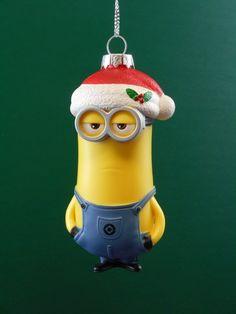 Minion Kevin in Santa Hat Ornament #KA127