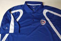 Toronto Blue Jays SS Polo Shirt Large Antigua MLB Baseball Bautista Tulowitzki  #Antigua #PoloRugby