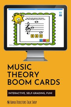 This set of interactive music theory flash cards make music class FUN! Boom cards are 100% digital & interactive -fun for music distance learning! Students love to hear a ding w/ correct answers! Games can be played easily with no student login required & the boom teacher account is free! If you want to make teaching music online more fun, these music activities are for you! Music teachers love them for easy music lessons. Great for elementary music & middle school music, including band… Music Theory Games, Music Education Games, Music Theory Worksheets, Rhythm Games, Music Activities, Music Teachers, Music Classroom, Music Lesson Plans, Music Lessons