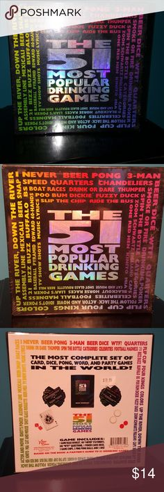 51 most popular drinking games Brand new in box never opened still wrapped in plastic Other