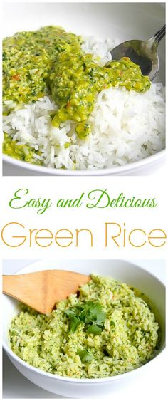 This DELICIOUS Green Rice is perfect for tacos, burritos, and so much more!