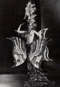 Folies Bergère, Paris~1920 The butterfly costume is absolutely stunning!