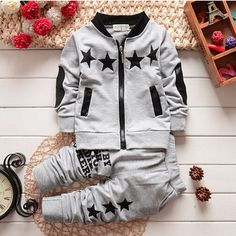 new sofa sets on sale at reasonable prices, buy 2016 Spring Autumn Kids boys Sport&Casual Clothing Sets cotton Jacket + pants sports suits baby clothing set Tracksuit set from mobile site on Aliexpress Now! Boys Tracksuits, Girls Tracksuit, Tracksuit Set, Sporty Outfits, Baby Boy Outfits, Kids Outfits, Sporty Clothes, Casual Clothes, Baby Boy Fashion