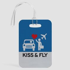 Kiss and Fly - Luggage Tag