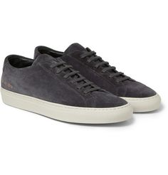 save off cf492 eb8de Common Projects Original Achilles Suede Sneakers Glida På Sneakers, Mr  Porter, Akilles, Dark