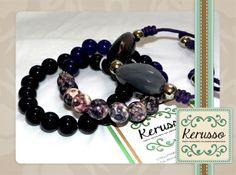 Pulseras moradas con piedras semipreciosas. cada una se vende por separado.  #KerussoBisuteria #Design #Jewelry #HandMade #CostaRica
