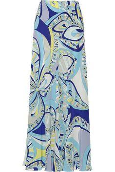 Emilio PucciPrinted silk crepe de chine maxi skirt #EmilioPucci