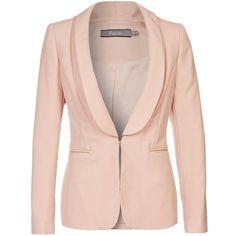 Bourne NICOLE Blazer ($180) ❤ liked on Polyvore featuring outerwear, jackets, blazers, tops, pink, blazer jacket, pink blazer jacket, bourne, pink jacket and pink blazer