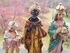 Vintage HOMCO Three Wise Men Figurines by lookonmytreasures on Etsy