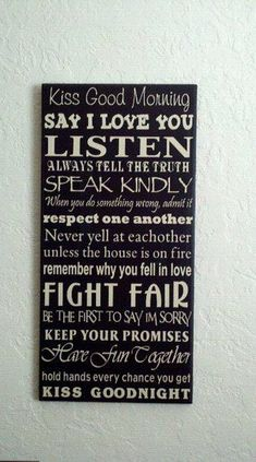 I found this on here awhile back.  I only wish I could find where to buy it because I really want this for my house. Quotes Marriage, Godly Marriage, Daily Inspiration Quotes, Wedding Inspiration, Trendy Wedding, Wedding Gifts, Master Bedrooms, Boxing Quotes, Truths