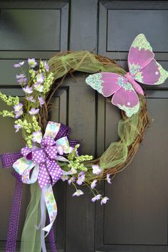 Spring Wreath  Easter Wreath  Spring Wreath by TheHolidayBowtique, $125.00