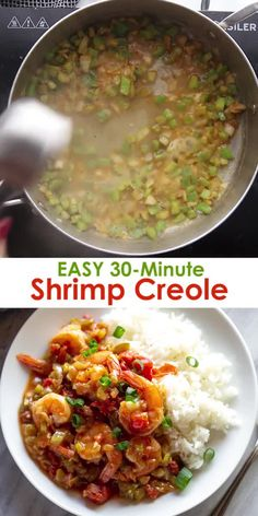 Bring the heart of Louisiana right to your own kitchen with this easy Shrimp Creole recipe that takes just 30 minutes to make all in one pot! Its healthy and packed with flavor from the perfectly cooked shrimp in spicy creole sauce. Shrimp Recipes For Dinner, Shrimp Recipes Easy, Seafood Dinner, Cajun Recipes, Baked Chicken Recipes, Seafood Recipes, Shrimp Creole Recipes, Recipes With Cooked Shrimp, Chicken Creole Recipe