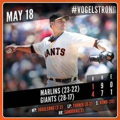 sfgiants:  Vogelsong strikes out 6 over 7 shutout innings in Giants' victory. Recap:http://atmlb.com/1jtkD3m