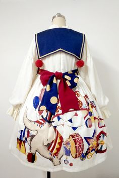 Lullaby -The Circus- Lolita OP Dress,Lolita Dresses, Funky Outfits, Colourful Outfits, Cool Outfits, Clown Clothes, Circus Outfits, Cute Clown, Costume, Japan Fashion, Lolita Fashion
