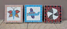 Quadro de mosaico - Tema infantil by ALÉM DA RUA ATELIER/Veronica Kraemer, via Flickr #mosaico #mosaic