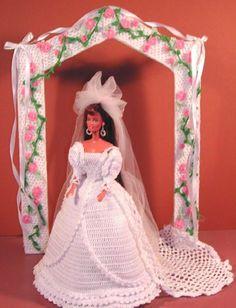 CROCHET FASHION DOLL PATTERN-#8 AUTUMN BRIDE #ICSORIGINALDESIGNS