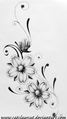tattoo design i just drew up. its not quite done yet, but this is all i can think of for now. 'dama da noite' is portuguese for 'lady of the night', and this is what this flower - the plumeria - is...