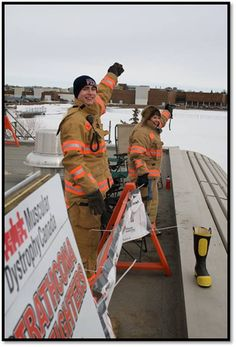 Strathcona County Fire Fighters fundraise during Rooftop Campout