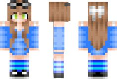 Blue Girl Minecraft Skin