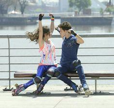 Luna e Matteo gravação do clipe para a competição