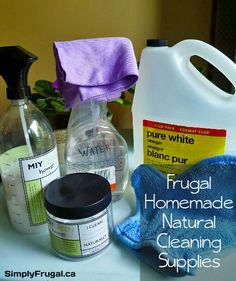 What do baking soda, vinegar, Borax and pure castile soap have in common? When they're mixed together they can create a natural all-purpose cleaner just as effective as the chemical laden, store bought cleaning supplies!  In the picture above, you'll see...