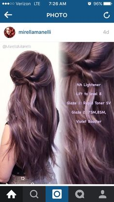 Espresso Base with Hazel Ribbons - 60 Chocolate Brown Hair Color Ideas for Brunettes - The Trending Hairstyle Purple Brown Hair, Lilac Hair, Hair Color Purple, Brown Hair With Highlights, Hair Color And Cut, Brown Hair Colors, Violet Hair, White Hair, Chocolate Mauve Hair