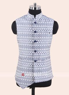 Silk Fabric Koti in White Nehru Jacket For Men, Waistcoat Men, Mens Suit Vest, Wedding Kurta For Men, Wedding Dress Men, Wedding Suits, Men's Coats And Jackets, Nehru Jackets, Stylish Waistcoats