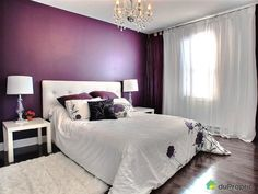 17 Magnificent Purple Bedrooms That Are Worth Seeing Room Colors, Interior Design Bedroom, Decor, Bedroom Decor, Diy Bedroom Decor, Interior Design Living Room, Purple Bedrooms, Home Decor, Room Interior