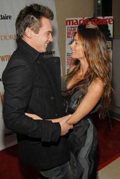 Gabrielle Anwar and Jonathan Rhys Meyers at event for The Tudors