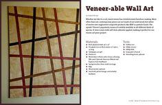 DIY wall art from veneer strips